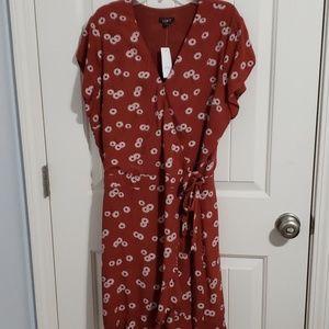 Ann Taylor Loft skort wrap dress/ romper